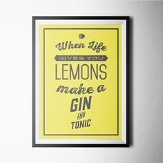 Fancy - Gin and Tonic Print