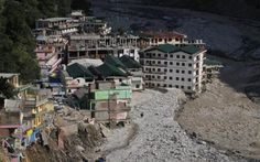Buildings destroyed during floods are seen next to the Alaknanda river in Govindghat in the Himalayan state of Uttarakhand June 22, 2013. Flash floods and landslides triggered by early monsoon rains have killed at least 560 people in northern India and left tens of thousands missing, officials said on Saturday, with the death toll expected to rise significantly. REUTERS/Danish SiddiquiPosted by floodlist.com #floods #uttarakhand