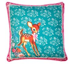 Happy Deer Cushion by Wu & Wu - $40