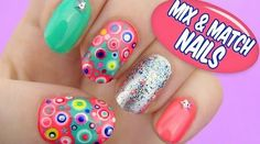#cute #mixandmatch #nails video #tutorial  #nailart #mani #spring <3 Join the community: http://www.glam-express.com/