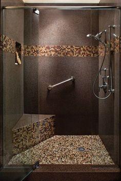 carreaux mosaique imitant cailloux, carreaux galet pour la salle de bain