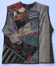 """Kimono Collage Vest made 2"""" lo"""