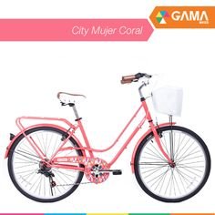 ¿La quieres? ¡Entonces entra por City Mujer Coral a gamabikes.com! #NuevaTemporadaGama Disfruta la primavera con tu bicicleta.