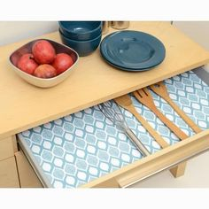 $36.99 · Con-Tact Grip Prints Savory Teal Blue Shelf and Drawer Liner (Set of 4) 08F-C8A3U-04 - The Home Depot #kitchendrawers #diykitchen