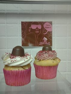 Come to Clyde's today and try a delicious vanilla cupcake with raspberry and almonds!