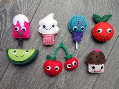 LovingLeiden: Kawaii Food vilten magneetjes /magneten met leukoplast vastzetten