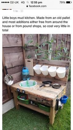 Image result for mud kitchen diy