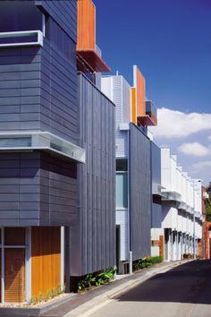 Villiers Street Apartments, Melbourne (Australia) by Nicholas Murray Architects #Architecture #Project #CollectiveHousing #Zinc #Wood #VMZINC #Australia #Melbourne #Facade