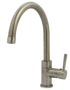 Swan Design Single Out Sprayer Kitchen Faucet With Deck Plate