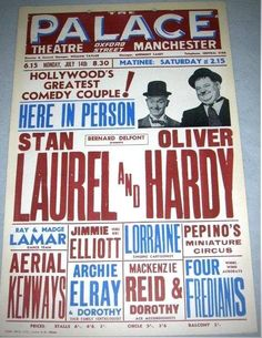 Stan Laurel Oliver Hardy, Laurel Und Hardy, Great Comedies, Classic Comedies, Vintage Tv, Vintage Posters, Rolf Harris, Comedy Duos, Abbott And Costello