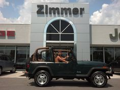 Here is Jeffery Veness with his new 1994 Jeep Wrangler! This is his first car and we are pleased that he and his parents made Zimmer CDJR their choice for Jeffery's new ride! Enjoy the summer fun with the top down, Jeffery!  Jeep makes the Wrangler and Zimmer makes the difference!  www.zimmermotors.com