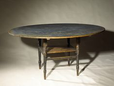 early blue oval  table...sigh