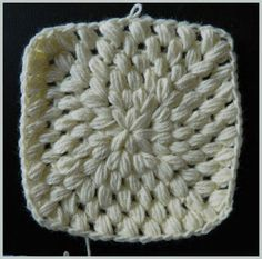 Crochet Patterns for the beginner or the advanced: All Puff Stitch Granny Square