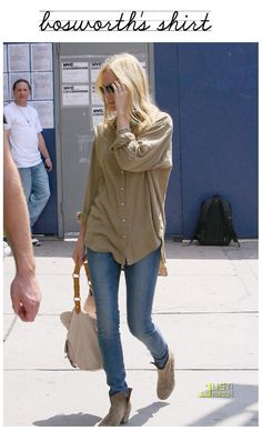 Kate Bosworth in Isabel Marant boots... she has good taste.