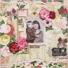 My Beloved Memories Layout by Amy Voorthuis for BoBunny featuring the Juliet Collection. #BoBunny @amyvoorthuis