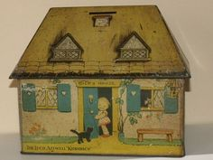 1933 William Crawford Biscuit Tin Money Box Illustrated by Mabel Lucie Attwell | eBay