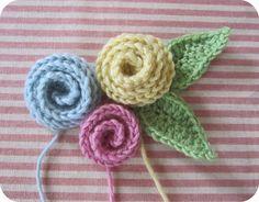 Coiled Rose Crochet Pattern