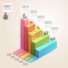 3d fl�che escalier diagramme options d'action de l'entreprise. Vector illustration. peut �tre utilis� pour la mise en page workflow, banni�re, les options num�riques, intensifier les options, web design, infographie. photo