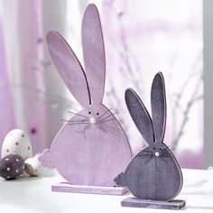 Love the shape of these bunnies! Could be replicated for cards or tags.