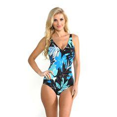 2c50783bd1f Miraclesuit Magic Suit by Miracle Suit Urban Safari Wrap One-piece Swimsuit  Women's Wendy Peffercorn