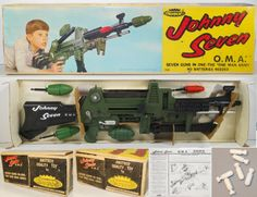 The Johnny Seven - One Man Army was a toy that I always wanted, but never got one. The Johnny Seven is now a collectors item.