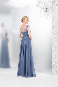 Colors Dress - Romantic Lace Illusion Evening Gown M116