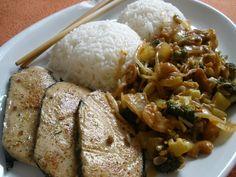 VegRyba s kešu-mungo omáčkou Grains, Recipes, Food, Essen, Meals, Ripped Recipes, Seeds, Yemek, Eten