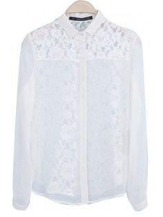 Button Up Lace Blouse