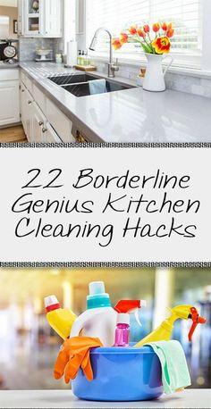 22 Borderline Genius Kitchen Cleaning Hacks - Organization Junkie
