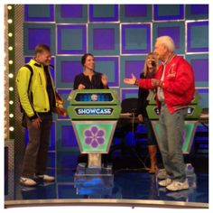 The Price Is Right (PriceIsRight) on Twitter - Bob Barker has Drew Carey and the Producers cracking up. Mr. Barker came back to The Price Is Right so that we could celebrate his 90th birthday! Be sure to tune in on 12/12 for the whole episode! Drew Carey, Price Is Right Games, 70s Tv Shows, Lets Play A Game, 90th Birthday, Comebacks, Bob, Let It Be, Twitter