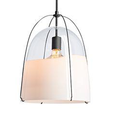Haleigh Clear & Opal Split Glass Dome Pendant - All For Decoration Art Deco Lighting, Porch Lighting, Antique Lighting, Vanity Lighting, Bathroom Lighting, Glass Pendant Light, Pendant Light Fixtures, Pendant Lighting, Elegant Chandeliers