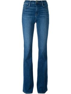 Explore designer flared jeans & bell-bottoms at Farfetch now. Find designer flares and women's bell bottoms from outstanding luxury labels right here. Denim Flare Jeans, Denim Flares, Frame Denim, Denim Fashion, Bell Bottoms, Bell Bottom Jeans, Spandex, Cotton, Pants
