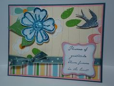 Spring Bling    Cricut Art Philosophy and Hannah Montana Cartridges.  CTMH Lucy stamp set