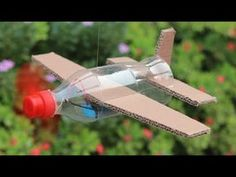 How To Make Flying Airplane Using Cardboard and Coke Bottle Crafts ? aus pet flaschen fledermaus How To Make Flying Airplane Using Cardboard and Coke Bottle Cardboard Airplane, Make A Paper Airplane, Airplane Kids, Airplane Crafts, Cardboard Crafts, Airplane Flying, Paper Plane, Airplane Games, Coke Bottle Crafts