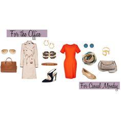 Two Ways: Bright Orange Dress by caphillstyle on Polyvore featuring Topshop, MANGO, Giorgio Armani, Cole Haan, MARC BY MARC JACOBS, Zara, Tom Binns, J.Crew, Gorjana and Dara Ettinger