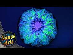 Fluid Acrylic Painting - MORE FLUORESCENT FUN! - YouTube