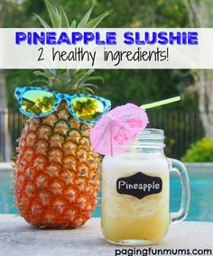 Pineapple Slushie Recipe - just two simple ingredients!