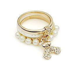 Headgear act the role ofing tastes detachable cent pearl female gift of ring of ring of Little Bear ...