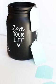 Chalkboard Dream Jars via Lilyshop Blog by Jessie Jane