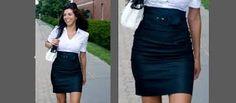 usar falda tubo para dar una mejor silueta dando la apariencia de tener piernas mas largas  de lo que son ya que al ser una falda a la cintura crea una ilusión óptica.
