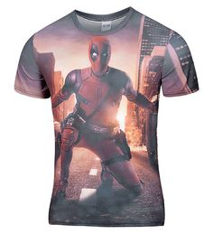 New Arrive American Comic Badass Deadpool T-Shirt Tees Men Women Cartoon Characters 3d t shirt Funny t shirts Casual tee shirts
