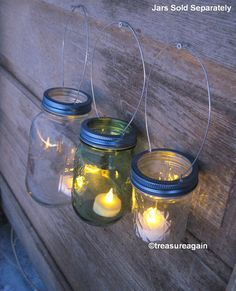 Mason Jar Lights Blue Lids Wedding DIY Candle by treasureagain   http://etsy.me/1grCeDp  #heritagecollection