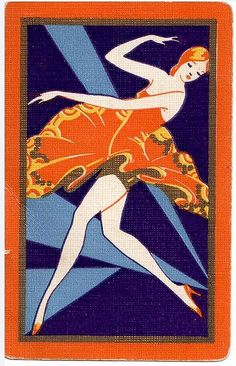 Art Deco Playing Card