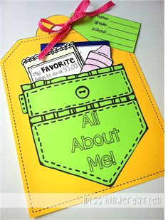 Miss Kindergarten: All About Me Craft