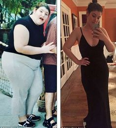 Charlotte Singer before and after her weight loss
