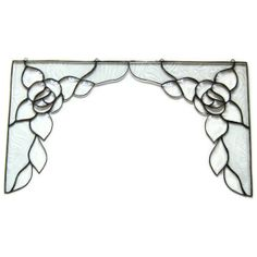 Stained glass corners beveled glass roses by Nostalgianmore, $150.00