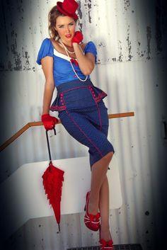 Aye Aye Kitten Peplum Skirt - Aye Aye Kitten - Collections
