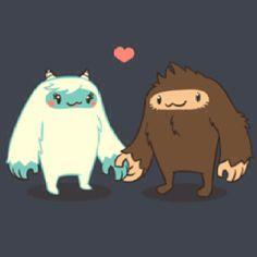 Yeti & Sasquatch together at last. Too cute!