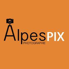 Création de logo pour Alpespix Photographie #graphisme #photographie #design www.alpespix.fr