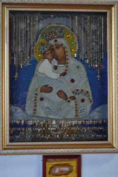 Miracle working Icon Mother of God of Pochaev at the Holy Dormition Pochayiv Lavra, Ukraine
